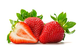 fresh strawberries for an easy strawberry smoothie